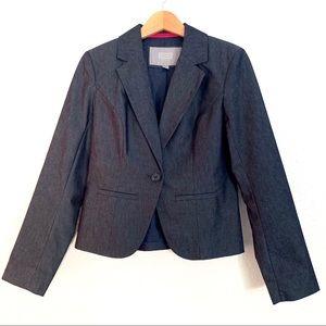 Merona Dark Blue Blazer Size 8 Sateen Fabric